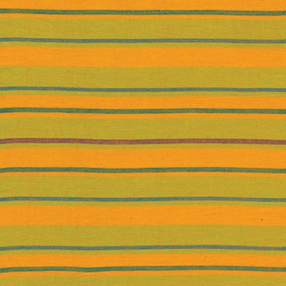 ALTERNATING STRIPE YELLOW Woven Stripe Kaffe Fassett Sold in 1/2 yard increments