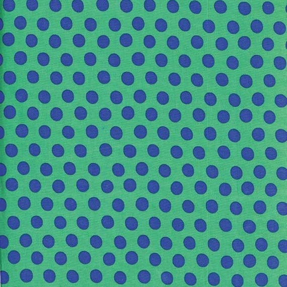 SPOT GREEN GP70 Kaffe Fassett  1/2 yd - Multiples cut continuously  - USA based retailer