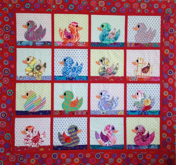 BABY DUCKS QUILT Pdf Pattern download