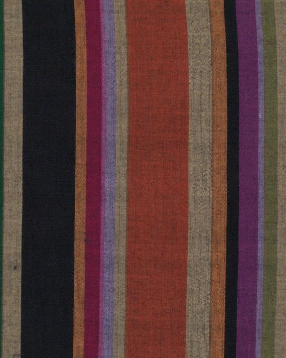 ROMAN STRIPE Woven  DARK  wromanx.darkx by Kaffe Fassett fabric sold in 1/2 yard increments