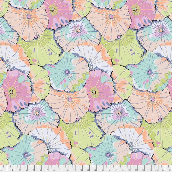 LOTUS LEAF CONTRAST gp29  Kaffe Fassett  - Sold in 1/2 yd increments - Multiple units cut as one length