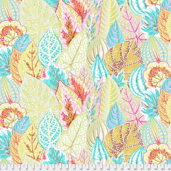 Feb 2020 Pre-Order Keep on Separate Order COLEUS GREY PWPJ030 Philip Jacobs Kaffe Fassett Collective -  1/2 yd - Multiples cut one length