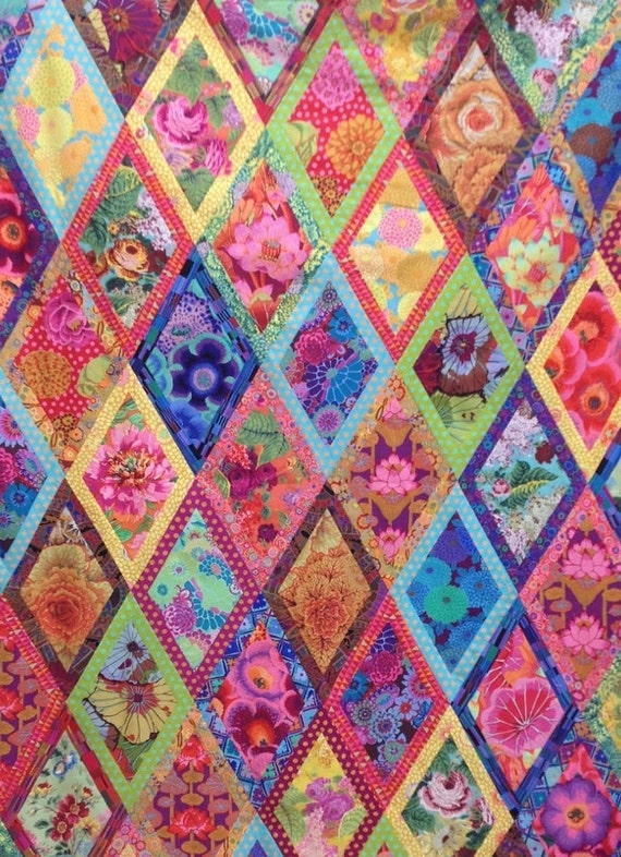 XL BORDERED DIAMONDS Quilt Fabric Pack 17.5 yards   -  all Kaffe Fassett  Collective Fabrics