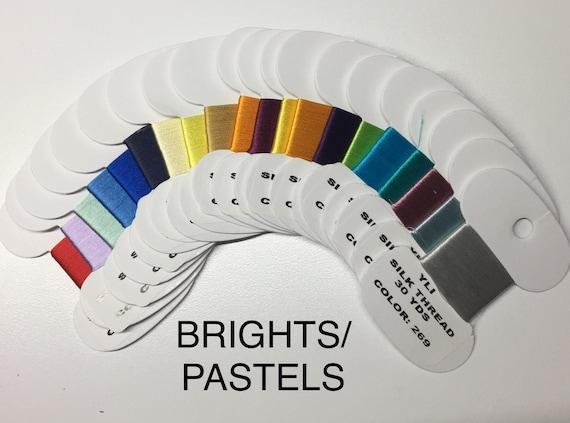 YLI 100wt SILK Thread  BRIGHTS Box set 20 colors x 30 yds