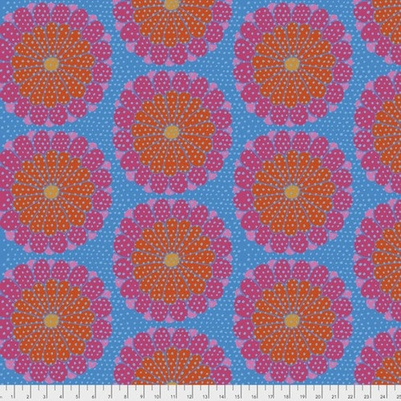KYOTO RED - Artisan - Kaffe Fassett Sold in 1/2 yd units - Multiples cut as one length