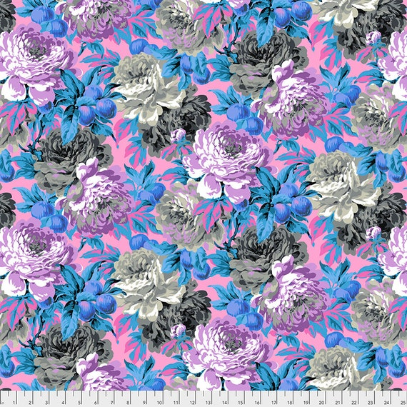 LUSCIOUS GREY PWPJ011 Philip Jacobs Kaffe Fassett Collective -  1/2 yd - Multiples cut one length  - USA based retailer