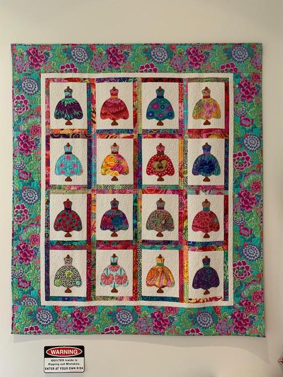 PRETTY DRESSES Quilt Kit - Kaffe Fassett Collective fabrics - Pattern included
