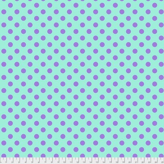 1/2 yd  POM POMS Petunia Tula Pink Multiple units cut as one length