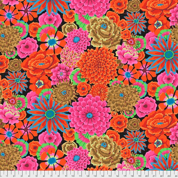 Pre-Order - Read Info! ENCHANTED MAGENTA  Kaffe Fassett PWGP172  1/2 yd - Multiples cut as one length  Red Pink