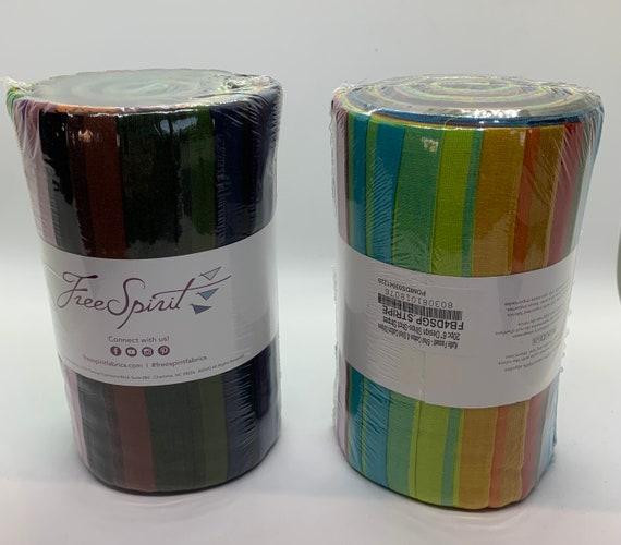 "SHOT STRIPES  Woven Stripes 6"" Design Roll  - 16 Colors  by  Kaffe Fassett   New 2020 Colors"