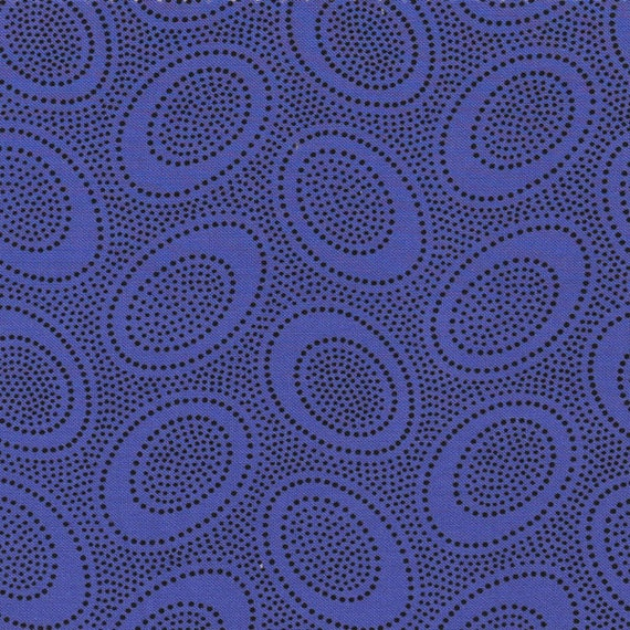 ABORIGINAL DOT GP71 Periwinkle GP71  Kaffe Fassett Sold in 1/2 yard increments  - USA based retailer