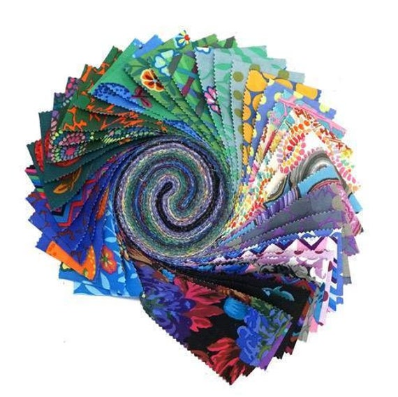 """COOL Design Roll - February 2020 collection - 40 pcs x 2 1/2"""" strips -  Kaffe Fassett Collective"""