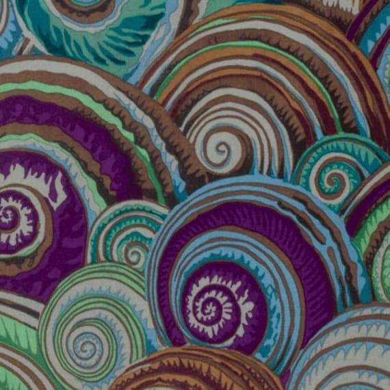 SPIRAL SHELLS ANTIQUE PJ073 by Philip Jacobs for Kaffe Fassett Collective Sold in 1/2 yd increments