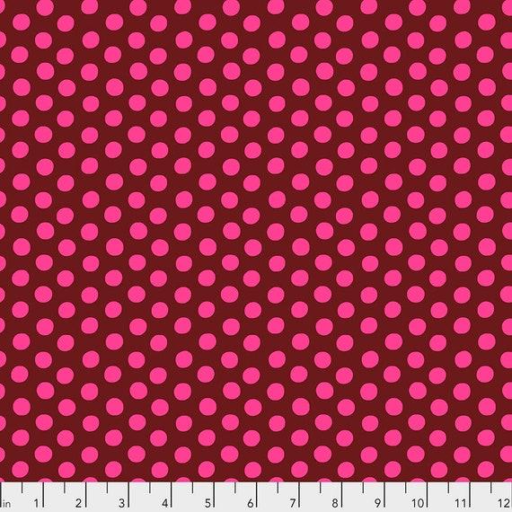 SPOT MERLOT Wine Pink GP70 August 2020 Kaffe Fassett Collective - 1/2 yard - Multiples cut as one length