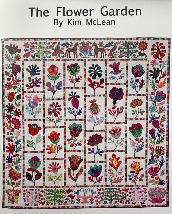 FLOWER GARDEN Pattern   Kim McLean - Appliqué