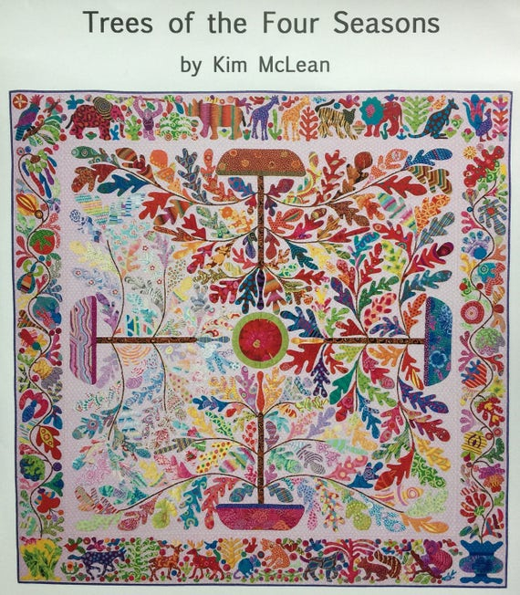 Trees Of The Four Seasons  Pattern by Kim McLean - Appliqué