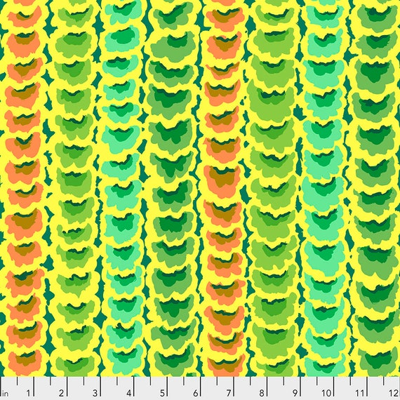 FEBRUARY 2021 Pre-Order! Read Description! GARLANDS Green PWGP181 - Kaffe Fassett Collective  Sold in 1/2 yd increments