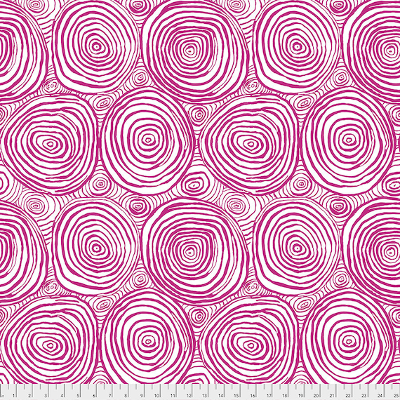 Pre-Order - ONION RINGS PURPLE pwbm70 Brandon Mably Kaffe Fassett Collective - Sold in 1/2 yd increments - Multiples cut in one length