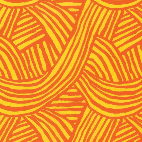 RAKED ORANGE PUMPKIN Artisan by Kaffe Fassett Sold in 1/2 yd increments