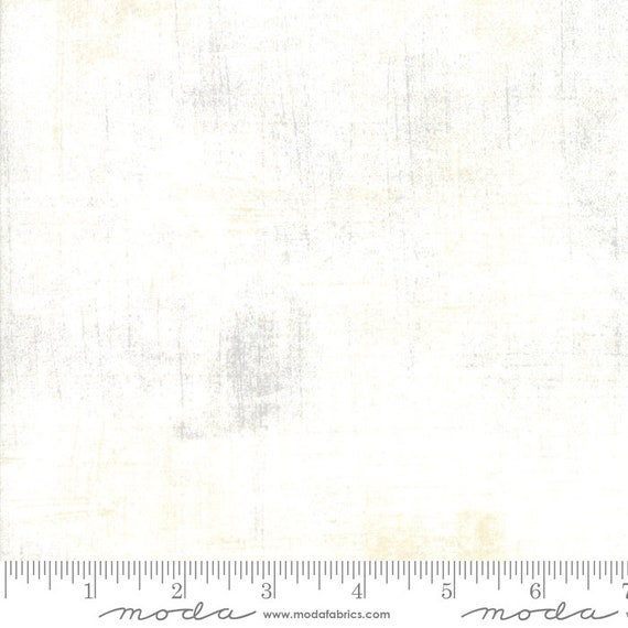 1/2 yd GRUNGE VANILLA WHITE Moda Basics 30150 91 - Sold in 1/2 yd increments - Multiple units cut as one length