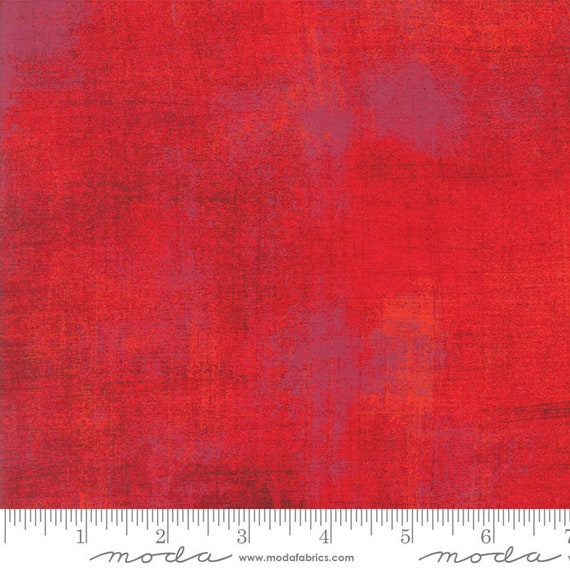 1/2 yd GRUNGE ROCACCO RED Moda Basics 30150 332 -  Sold in 1/2 yd increments - Multiple units cut as one length