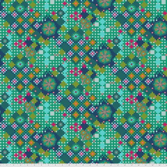 POSTAGE DUE JADE  Love Always PWAH068.Jade by Anna Maria Horner -  Sold in 1/2 yard increments - Multiples cut in one length