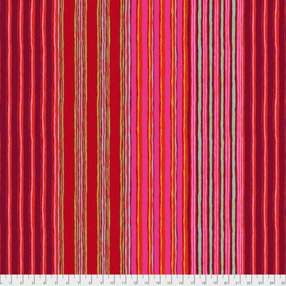 REGIMENTAL STRIPE Red PWGP163.REDXX  Kaffe Fassett  1/2 yd - Multiples cut continuously