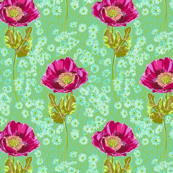 1/2 yd BOSSY MEADOW Green - Bright Eyes by Anna Maria Horner PWAH150.MEADOW- Sold in 1/2 yd increments - Multiples cut as one length