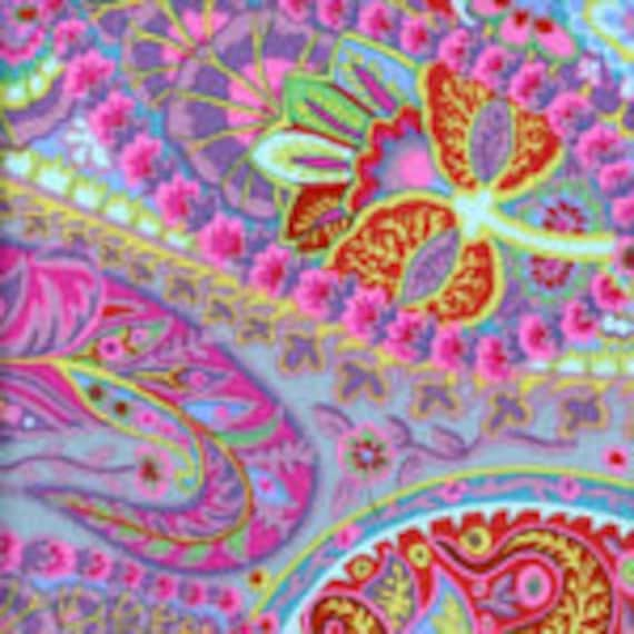 OOP Paisley Jungle Grey Gray - PWGP060 Kaffe Fassett - Sold in 1/2 yd increments - Multiple units cut as one length