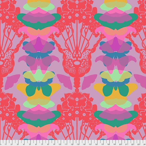 1/2 yd GHOST NOUVEAU LILAC - Anna Maria Horner - Sold in 1/2 yd increments  - Multiples cut as one length