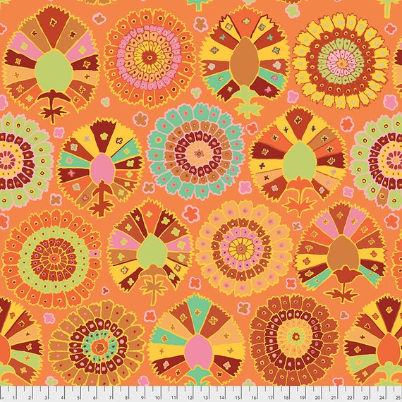 Pre-Order - TURKISH DELIGHT GOLD Kaffe Fassett  - Sold in 1/2 yd increments - Multiples cut in one length