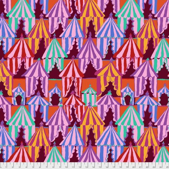 GLAMPING RED Brandon Mably Kaffe Fassett Collective - Sold in 1/2 yd increments - Multiple units cut as one length