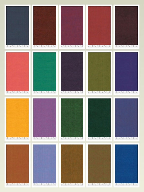 SHOT COTTON FQ Pack - 20 x Fat Quarters  by  Kaffe Fassett   New 2020 Colors