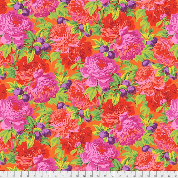 LUSCIOUS PINK PWPJ011 Philip Jacobs Kaffe Fassett Collective -  1/2 yd - Multiples cut one length