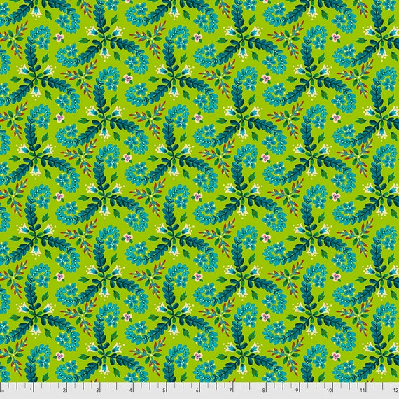 PREORDER June/July delivery FRONDS GREEN - Magicountry by Odile Baileou - Sold in 1/2 yd increments - Multiple units cut one length