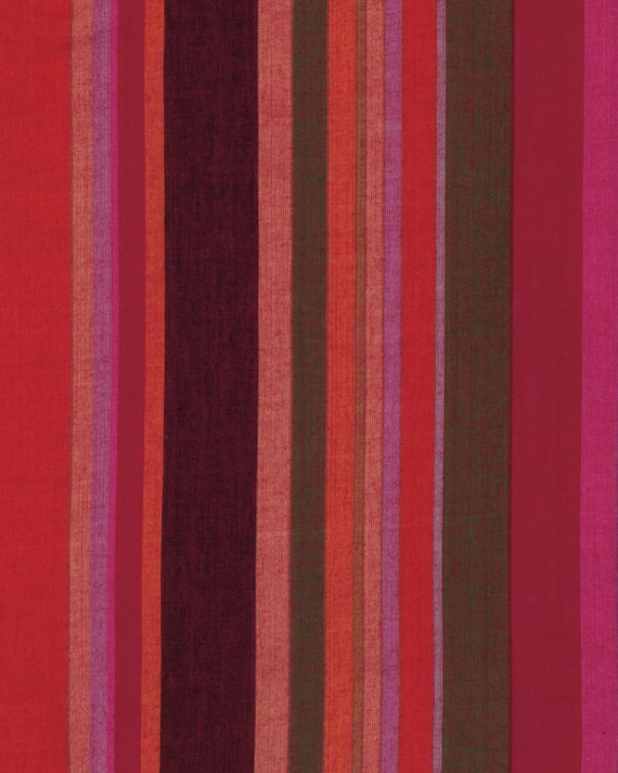 ROMAN STRIPE Woven  BLOOD wromanx.blood Kaffe Fassett Sold in 1/2 yard increments  Multiples cut as one length