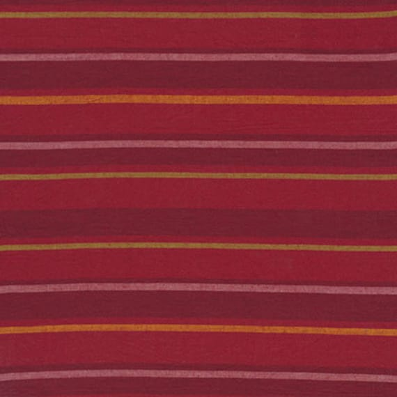 ALTERNATING STRIPE  RED  Woven Stripe Kaffe Fassett Sold in 1/2 yard increments