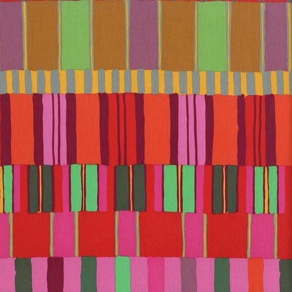 LAYERED STRIPE RED  - Artisan by Kaffe Fassett Sold in 1/2 yard increments