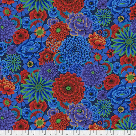 Separate Order!! ENCHANTED COBALT Kaffe Fassett PWGP172  1/2 yd - Multiples cut as one length  - USA based retailer