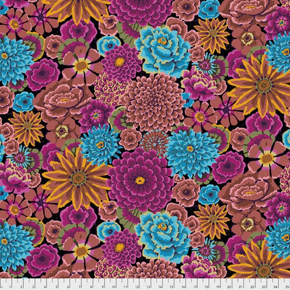 ENCHANTED DARK  Kaffe Fassett PWGP172 Sold in 1/2 yd increments - Multiples cut as one length
