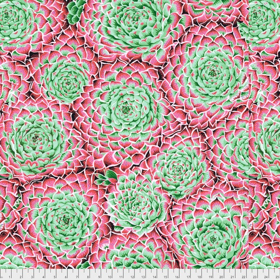 SUCCULENT PINK PWPJ091  Philip Jacobs for Kaffe Fassett Collective Sold in 1/2 yard increments Item