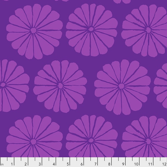 DAMASK FLOWER Purple pwgp183 Kaffe Fassett Collective  Sold in 1/2 yd increments