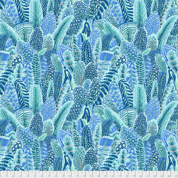 FARMYARD FEATHERS TROPICAL Blue Arcadia collection by Snow Leopard Philip Jacobs