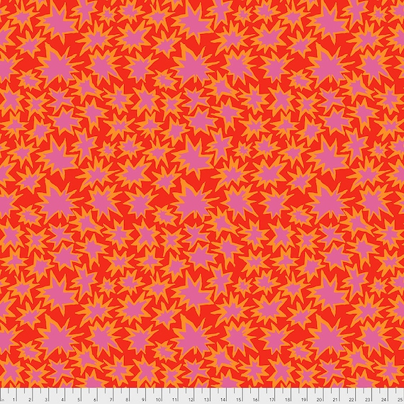BANG RED pwbm72 Brandon Mably Kaffe Fassett Collective - Sold in 1/2 yd increments - Multiple units cut as one length