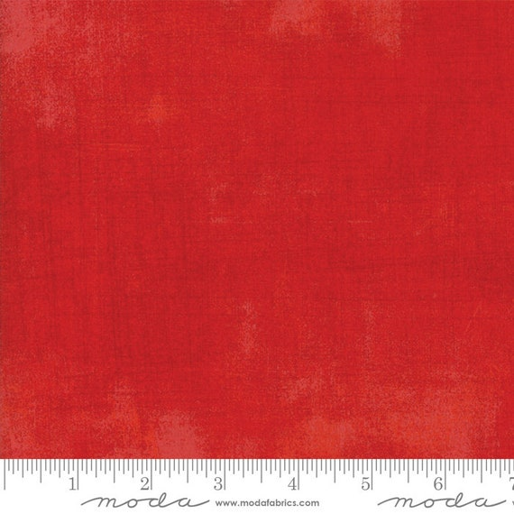 1/2 yd GRUNGE SCARLET RED Moda Basics 30150 365 -  Sold in 1/2 yd increments - Multiple units cut as one length