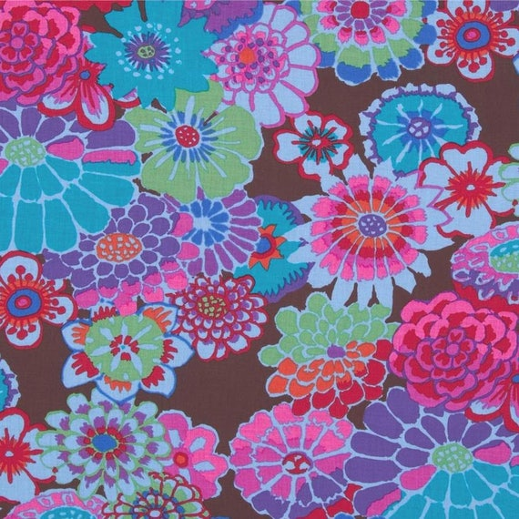ASIAN CIRCLES  Dark  GP89 Kaffe Fassett  Sold in 1/2 yd increments