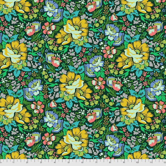OVERACHIEVER FOREST Green PWAH083.FOREST Love Always by Anna Maria Horner -  Sold in 1/2 yard increments - Multiples cut in one length