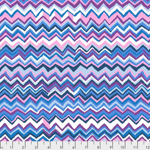 ZIG ZAG SKY pwbm043 Brandon Mably - Kaffe Fassett -  1/2 yd - Multiples cut one length