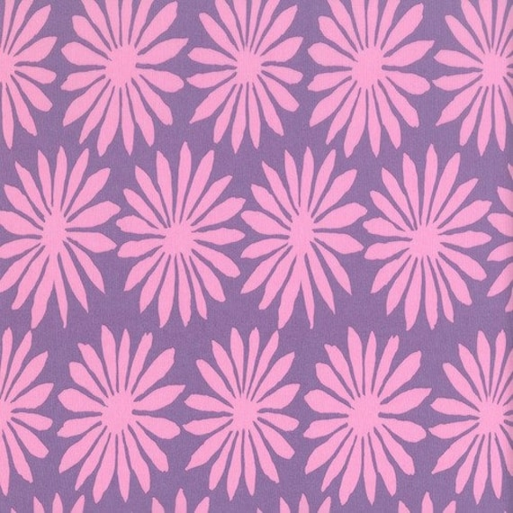 GERBERA Lilac  ARTISAN by Kaffe Fassett - Sold in 1/2 yd increments