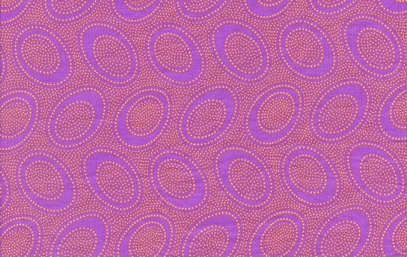 ABORIGINAL DOT  Purple  GP71  by Kaffe Fassett sold in 1/2 yard increments